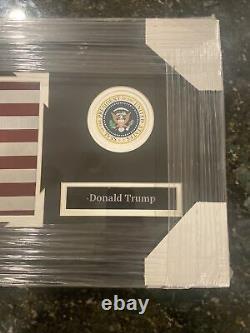 Donald Trump Photo Encadrée Autographiée Lire Description