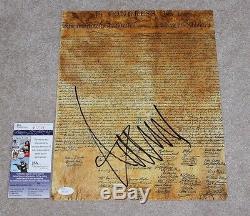 Donald Trump Pour Le Président Signe Une Déclaration D'indépendance 11x14 Photo Withcoa