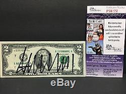Donald Trump Président 2016 Signé Autograph $ 2 Deux Dollar Bill Amérique Jsa Coa