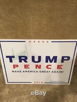 Donald Trump Président A Signé Dédicacé 2016 Affiche De Campagne