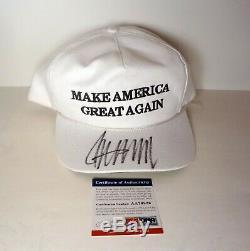 Donald Trump Président Autographié Make America Great Encore Une Fois Chapeau Psa / Adn Coa