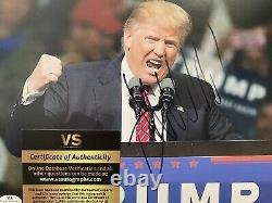 Donald Trump Président Autographié Signé 8x10 Photo Maga USA Trump - Coa