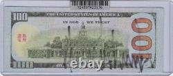Donald Trump Président Potus 45e Signé 100 Réplique Dollar Bill Avec Dg Coa (c)