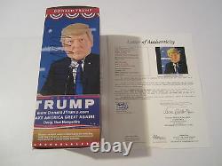 Donald Trump Président Signé Autographié Bobblehead Tête Bobblehead Jsa Coa Rare