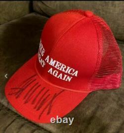 Donald Trump Président Signé Make America Great Encore Une Fois Hat Beckett Lettre Coa