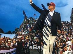 Donald Trump Signature Autograph 11x14 Photo 2016 Président Amérique Jsa Coa