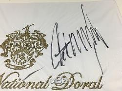 Donald Trump Signature Autograph Drapeau National Golf 2016 Président Doral Jsa Preuve