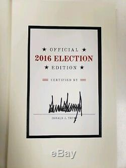 Donald Trump Signature Du Livre Art Of The Deal 2016 Election Édition Autograph