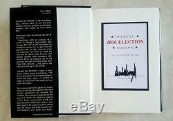Donald Trump Signature Du Livre Relié Art Of The Deal 2016 Election Édition Non Lus