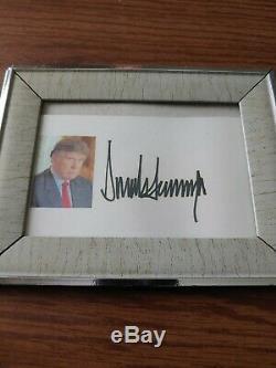 Donald Trump Signé 3 × 5. Carte Index, No Coa