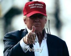 Donald Trump Signé 8x10 Photo Belle Photo Autographiée Avec Coa