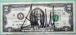 Donald Trump Signé À La Main Crisp Two Dollar (2,00 $) Bill- Psa / Dna Authenticated