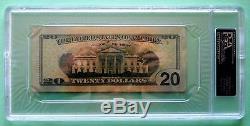 Donald Trump Signé À La Main De 20 Dollars (20 Dollars) Authentique