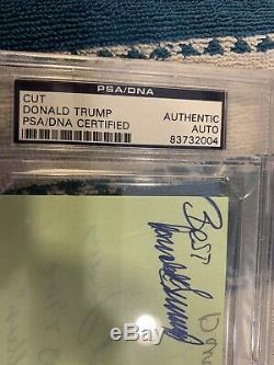 Donald Trump Signé Autograph Psa / Dna