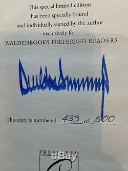 Donald Trump Signé Autograph Survivre À La 1ère Édition Du Livre Top Coa Psa Rare