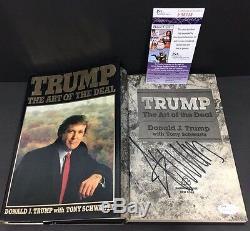Donald Trump Signé Autograph The Art Of The Deal 1ère Édition Du Livre 1987 Jsa Coa