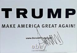Donald Trump Signé Autographe 13x19 Campagne Présidentielle Sign Jsa Loa