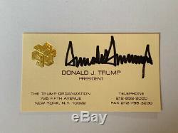 Donald Trump Signe Autographed Business Card Retour Withchinese, Pré-président 2004