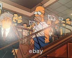 Donald Trump Signé Autographié 11x14 Rare Simpsons Photo Psa 45e Président