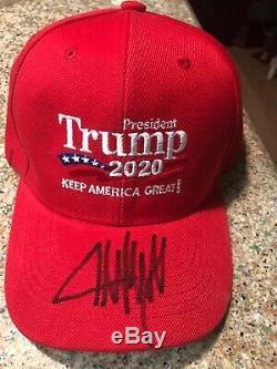 Donald Trump Signé Autographié 2020 Keep America Red Hat Grande Maga