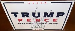Donald Trump Signé Autographié Campagne Poster