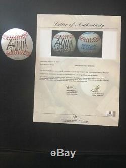 Donald Trump Signé Autographié Rawlings Officiel De La Ligue De Baseball Ga Loa Potus