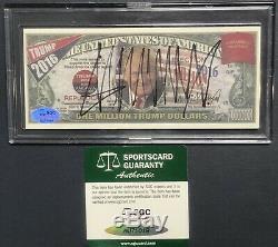 Donald Trump Signé Campagne Note Sgc Au71018 Certifié Autograph Coa