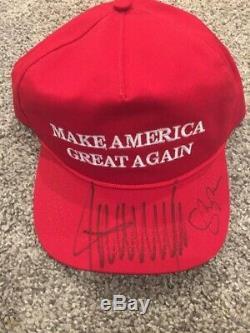 Donald Trump Signé Chapeau