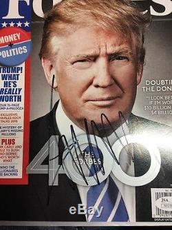Donald Trump Signé Forbes Magazine 2016 Président Républicain Jsa Auth Dl2