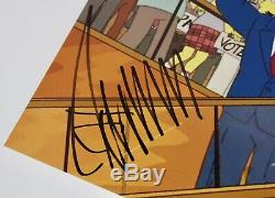 Donald Trump Signé Jsa Loa Photo Simpsons 11x14 Autographiée 45ème Président Des États-unis