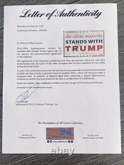 Donald Trump Signe La Campagne Psa Loa Coa 45e Président