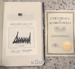Donald Trump Signé Livre À Couverture Rigide Crippled Amérique Avec L'authentification