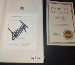 Donald Trump Signé Livre Crippled Amérique #4913/10000 Coa