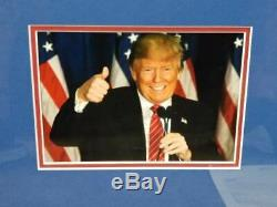Donald Trump Signé Maga Campagne Sign Affichage Personnalisé (full Jsa Letter)