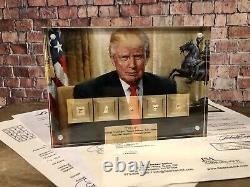 Donald Trump Signé Par Washington Lincoln Jefferson Adams Hamilton Jsa Psa Cadeau