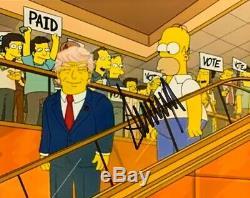 Donald Trump Signé Photo 8x10 45ème Président Maga Simpsons Autographié
