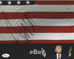 Donald Trump Signé Photo 8x10 Jsa Coa Construire Un Mur Amérique Grande Encore Une Fois B