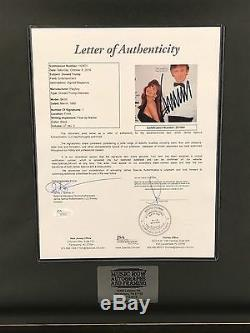Donald Trump Signé Playboy Magazine Encadré Mars 1990 Autographe Or Jsa Loa