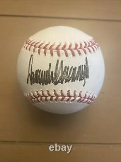 Donald Trump Signé Rawlings Lmb Baseball, Psa / Adn Certifié, Signature Pleine, Rare