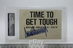 Donald Trump Signé Temps Autograph Sévisse Making America # 1 Encore Une Fois Psa / Cut