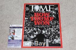 Donald Trump Signé Time Magazine 18/01/16 Rendre L'amérique Grande À Nouveau Jsa How Won