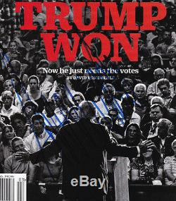 Donald Trump Signé Time Magazine Républicain Autographié 45ème Président 2016 Gop