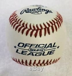 Donald Trump Signée À La Main Autographed Baseball Coa / Cube