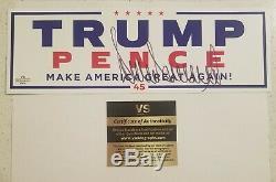 Donald Trump Signée À La Main Autographié Maga Campagne Autocollant Avec Coa Et Plus