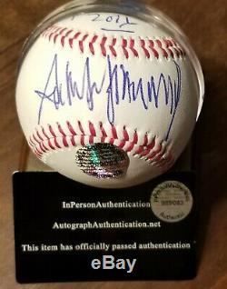 Donald Trump Signée À La Main Autographié + Obama Votre Fired Baseball Withcoa
