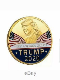 Donald Trump Signée À La Main Autographié Romlb Baseball Avec Coa + 10 Coins Collector