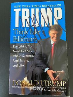 Donald Trump Signée À La Main Du Livre Broché
