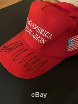 Donald Trump Signée À La Main Maga Jat Avec Coa