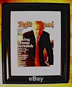 Donald Trump Signée À La Main Rolling Stone Magazine Couverture Authentique, Comes Coa