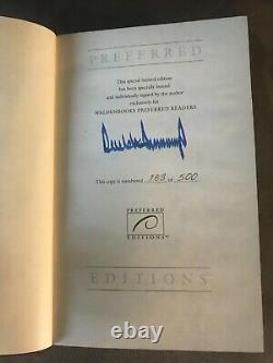 Donald Trump Survivre Au Top Limited Edition # 183/500 Signés Autograph
